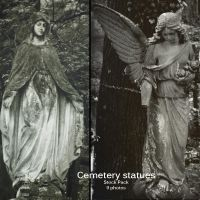Cemetery statues stock pack by stuff-stock