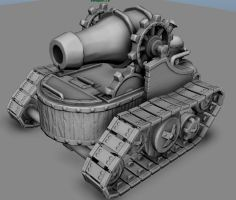Steam-Tank Low Poly WIP by MrMikeyMike