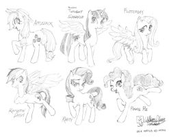 Mane 6, first sketches by meto30
