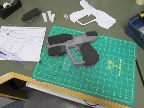 Making A Halo Magnum Pistol (WIP-1) by EvilWheatley