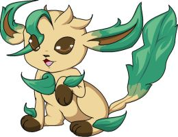 Chibi Leafeon by xIce-Wolf