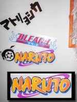 My wall Pt. 2 : Naruto -logo by CallMeIK