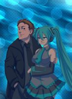 Rostran and Hatsune Miku by ManiacPaint