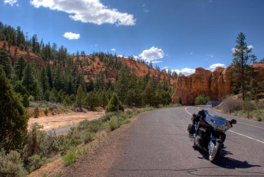 My Goldwing at Red Canyon by PaSidor