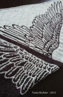 Wing Shawl for Vogue Knitting by aetherfang