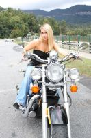 stock Blonde girl  Motorcycle by DeadEyeStock