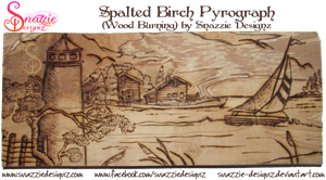 Spalted Birch Experiment Pyrograph (Woodburning) by snazzie-designz