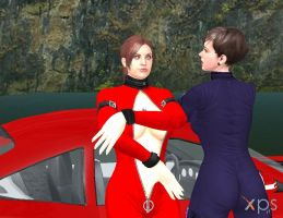 Claire and Moira in Latex DOWNLOAD by BLENDERTAPER