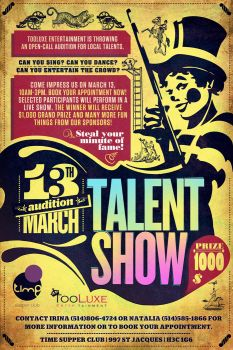 poster for talent show by sounddecor