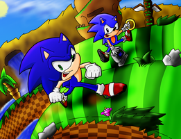 Sonic generation fan art by ultimatewino