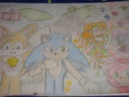 Sonic Adventure :colour: by Open-your-Heart
