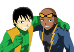 Toshio and Jeff The Super Friends Duo by CamiloSama