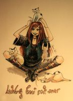 cats are love me so much by remstan