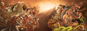 Rama Vs Ravana 'Lanka Wars' by Algrenism