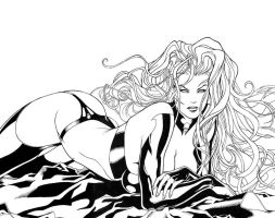Lady Death - Annual 2006 (wraparound cover) by Ric1975