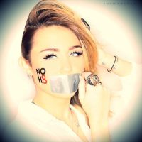 Miley Cyrus NOH8 2 by GaGaGomezCyrus