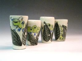 Caterpillar Cups by StephHolmes