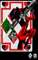 Harley Quinn Card GIMP by CJRogue