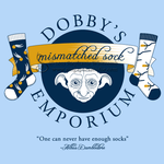 Dobby's Mismatched Sock Emporium Shirt Design by SingapuraStudio