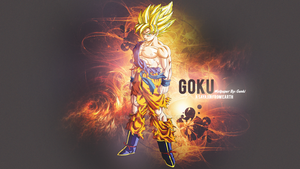 Goku Wallpaper - Dragon Ball-A Sayajin from Earth by Genki-18