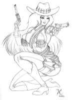 Pistolera Sketch by scificat