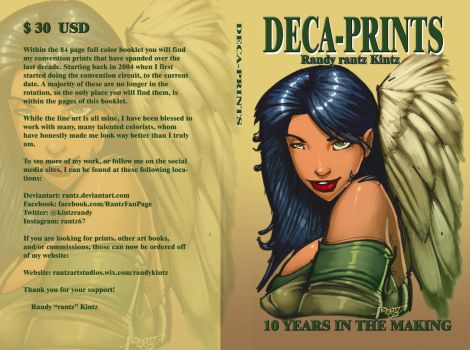 NEW ART BOOK: DECA-PRINTS Cover art by rantz