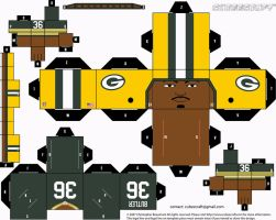 LeRoy Butler Packers Cubee by etchings13