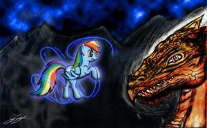 Rainbow Dash and The Terror by TabbyDerp