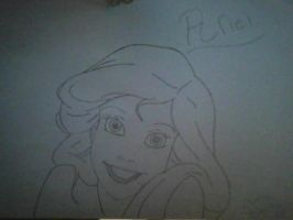 Ariel Drawing by Angelicsweetheart