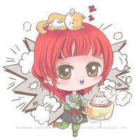 chilicandy LINEPLAY coffee girl by chilicandy