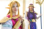 Princess Hilda and Zelda by dollphinwing