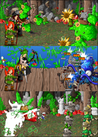 Lankyroot Jungle battles by KupoGames
