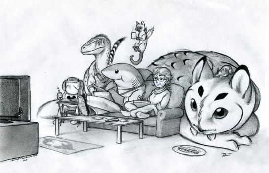 Doodle of Thanksgiving by RobtheDoodler