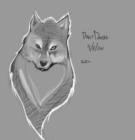 Daily doodle - Wolfs n stuff by Paterack