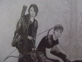 Katniss and Peeta by Snowleonheart