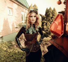 Latex rubber catsuit steampunk #5 by Miss-ecchi