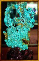 NATURAL TURQUOISE AS SCULPTURE by Voodoomamma