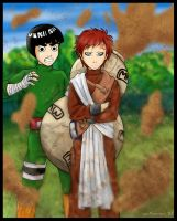 Naruto - Lee and Gaara by irishgirl982