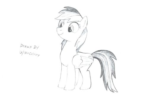 My First Submission, also my first Pony drawing. by MrCelroy