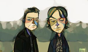 Supernatural - The Winchester Bros by michaelfirman