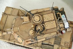 M1A2 SEP Abrams Tank (Top View) by dlesko250