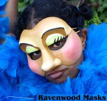 Commedia Mask - Smeraldina by Alyssa-Ravenwood