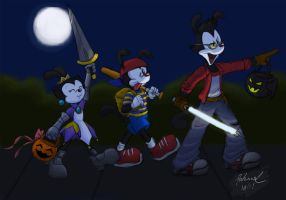 Animaniacs Halloween 2011 by rakumel