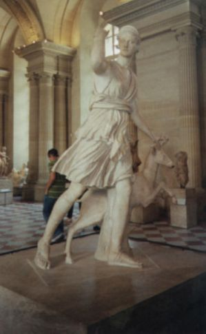 Artemis Statue in the Louvre