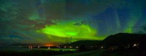 Aurora panorama by kajakka