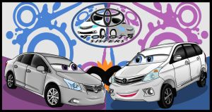 Toyota Sisters Wallpaper by lizzytheviking