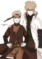Yondaime and Naruto by FanOfSherlock