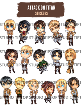 Attack on Titan Stickers by StudioTipTop