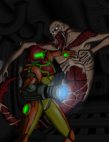Samus in Ishimura by Artman-eyt