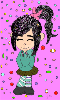 Vanellope Von Schweetz (request) by zelourera34